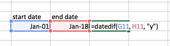 date dif function