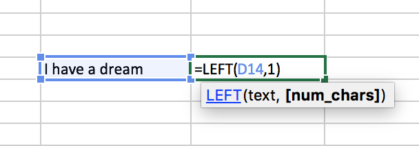 extract text from string using left function